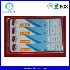 300g Paper Scratch Code Recharge Card with Pin Code pictures & photos