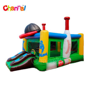 Baseball Kids Inflatable Bounce House Slide Chb735 pictures & photos