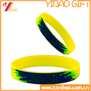 Custom Logo Printed Silicone Bracelet, Wristband for Promotional Gift (YB-SM-12) pictures & photos