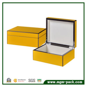 Popular Fashion Yellow Packing Wooden Gift Pen Box pictures & photos