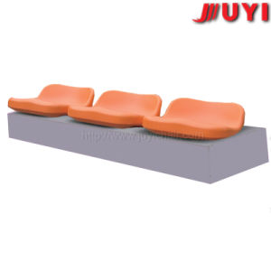 Blm-2508 Trusted Supplier Customize 100% Eco Material HDPE Aluminium Legs Soccer Outdoor Waiting Plastic Chair with Steel Frame pictures & photos