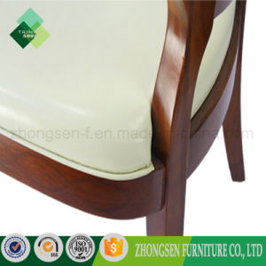 European Style Wood Round Back Chair for Living Room (ZSC-02) pictures & photos