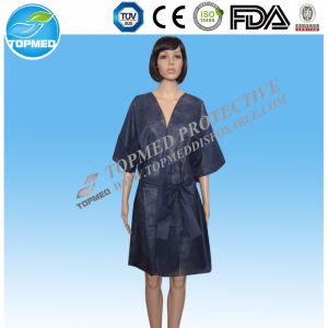 New Design PP Disposable Nonwoven Sexy SPA Kimono/Nonwoven Bedgown pictures & photos