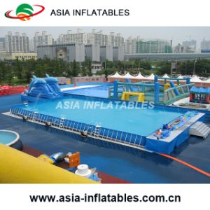 Commercial Adult and Kids Metal Frame Inflatable Steel Swimming Pool pictures & photos
