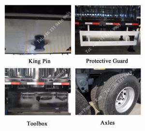 3 Axle Cargo Truck Semi Trailer Stake/Fence Truck Trailer pictures & photos