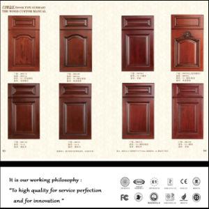 White PVC Vacuum Kitchen Cabinet Door (FY056) pictures & photos