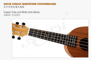 21 Inch Mahogany Body Soprano Pineapple Wooden Ukulele Wholesale pictures & photos