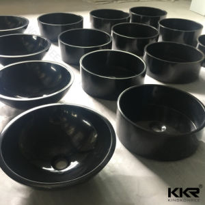 Black Bowl Sink Stone Wash Basin pictures & photos