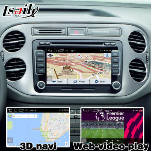 Android 5.1 4.4 Navigation for VW Tiguan Sharan Passat Mqb Video Interface Upgrade Touch Navigation WiFi Bt Mirrorlink HD 1080P Google Map Play Store pictures & photos