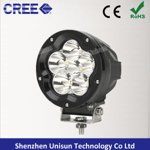 "5"" 12V-24V 60W 6X10W CREE LED Spot Driving Light pictures & photos"