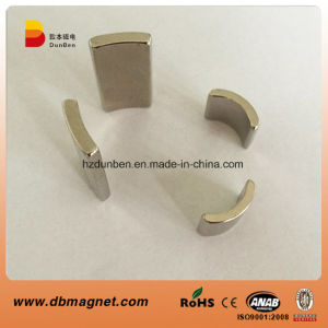 Nickel Coat Segment Neodymium Magnet Price pictures & photos