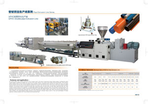 UPVC Double-Pipe Extrusion Line