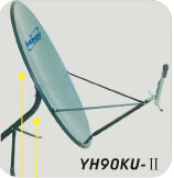0.9m Ku Band Satellite Dish Antenna (YH90KU-II) pictures & photos