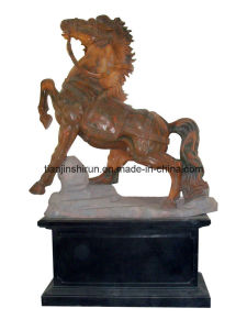 Marble Horse Carving Sculpture (GB021) pictures & photos