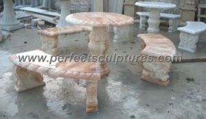 Antique Stone Marble Table Bench for Garden Ornament (QTS015) pictures & photos