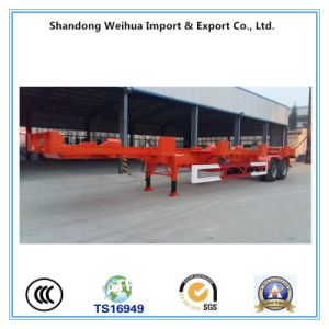 2 Axle 20FT 30t Skeleton Container Semi Trailer From Manufacture pictures & photos