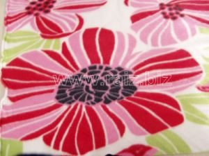 Flower Printed Polar Fleece Fabric for Blankets pictures & photos