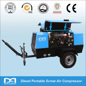 247cfm 7bar Diesel Portable 2 Wheel Air Compressor for Digging pictures & photos