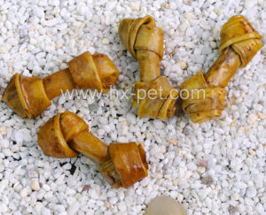 Pet Product - Basted and Smoked Porkhide Knotted Bones