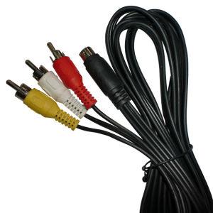 4pin Plug to 3RCA Cable