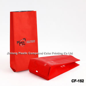 Foil Plain Plastic Coffee Bag with Side Gusset pictures & photos