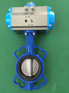 Cast Iron Pneumatic Wafer Butterfly Valve pictures & photos
