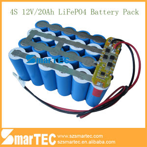 12V 20ah LiFePO4 Battery 4s for Street LED Light