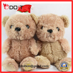 Small Teddy Bear with Christmas Hat pictures & photos