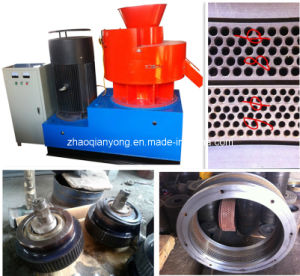 CE Approved New Design Vertical Double Ring-Die Palm Fiber Pellet Mill pictures & photos
