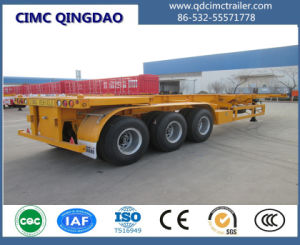 3 Axles Flatbed /Skeletal 40′ Container Semi Trailer pictures & photos