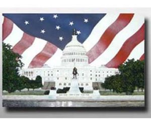 USA Flag Polyresin Fridge Magnet for Gift (PMG040) pictures & photos