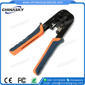 CCTV Crimping Tool for Cable RJ45/Rj11/Rj12 Plug Cuts-Strips-Crimps (T5068) pictures & photos