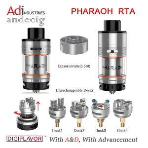 Wholesale Digiflavor Pharaoh Rta Tank Black/Gold/Ss 4.6ml Pharaoh Rta Atomizer pictures & photos