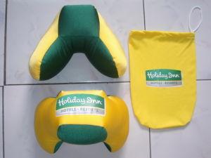 New Portable Travel Pillow, Green/Yellow