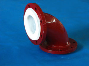 PTFE Lined 90deg Elbow Flange Type pictures & photos