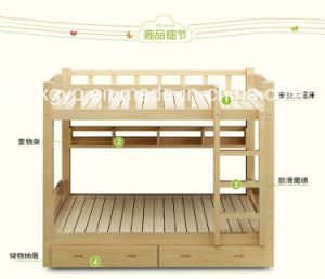 Kids Double Wood Bed/Wooden Kids Bed/High Quality Wood Bed for Kids Cx-Kb01 pictures & photos
