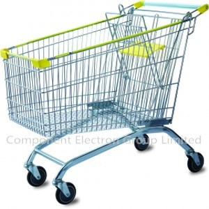 European 180L Roller Shopping Cart, Supermarket Trolley pictures & photos