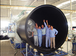 HDPE Hollow Wall Winding Pipe Production Line