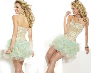 Wedding Dress, Wedding Gown, Miniskirt Dresses (Gillis00687)