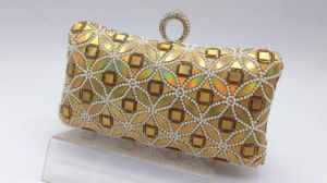 Evening Bag in Gold Color, Made of Polyester Fabric pictures & photos