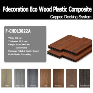 Wood Textured Co-Extrusion Composite WPC Decking