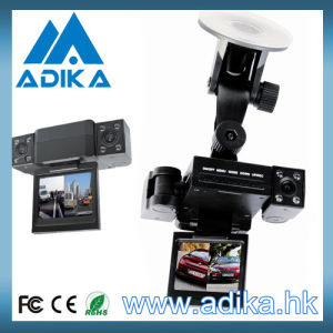Transformer Shape Dural Lens & Rotatable Lens Car Camera with Night Vision & Screen ADK-C167B