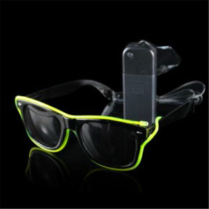 Electroluminescence EL LED Sunglasses for Party pictures & photos