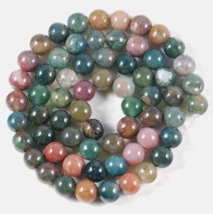 6mm Round Indian Agate Gemstone Loose Beads
