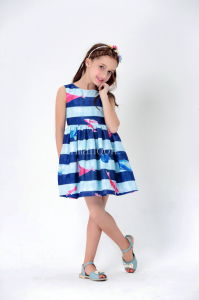 Short Sleeve Girl Dress Girls′ Skirt