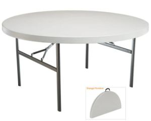 72 in Round Plastic Banquet Folding Table (White) (SY-183ZY) pictures & photos