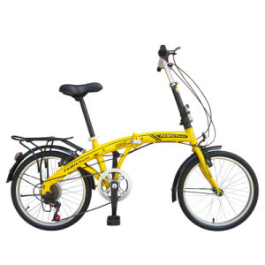 "20"" Chinese 6sp W/Fender & Carrier Steel Frame Folding Bike"