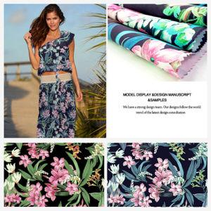 Chiffon, Tencel Tropic Floral Printed Fabric Garment Fabric