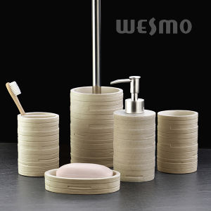 Embossed Polyresin Bathroom Accessories (WBP1146C) pictures & photos