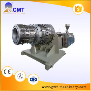 PVC Dual Strand/Outlet Pipe Plastic Machinery Line Extruder pictures & photos